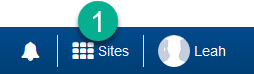 Sites button
